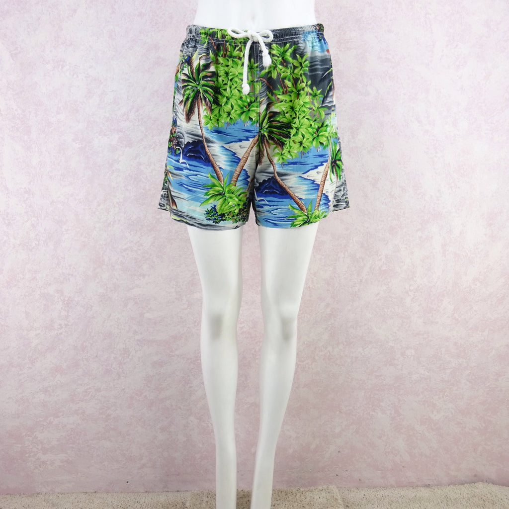 Vintage 90s THEODORE Tropical Print Shorts, NOS