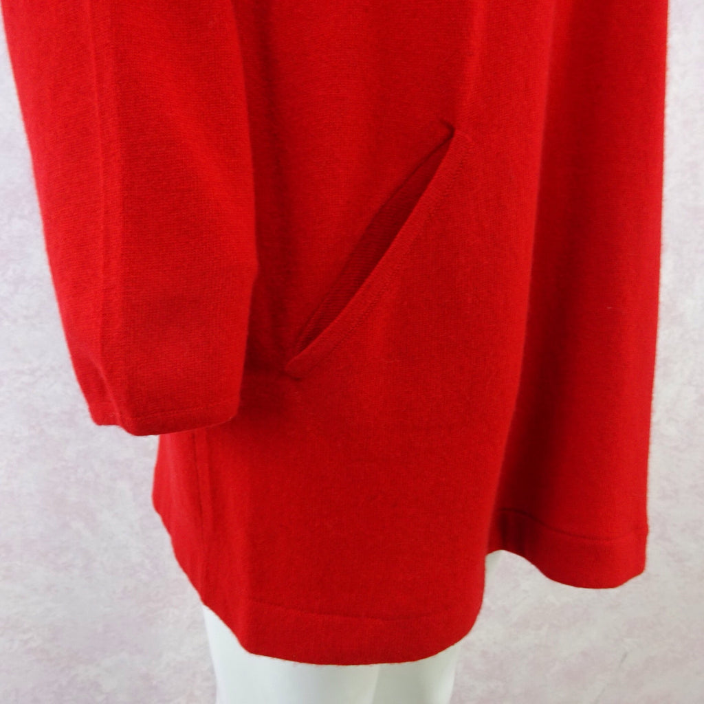 2000s Cashmere Dress / Tunic w/ Hip Slit Pockets, NOSm
