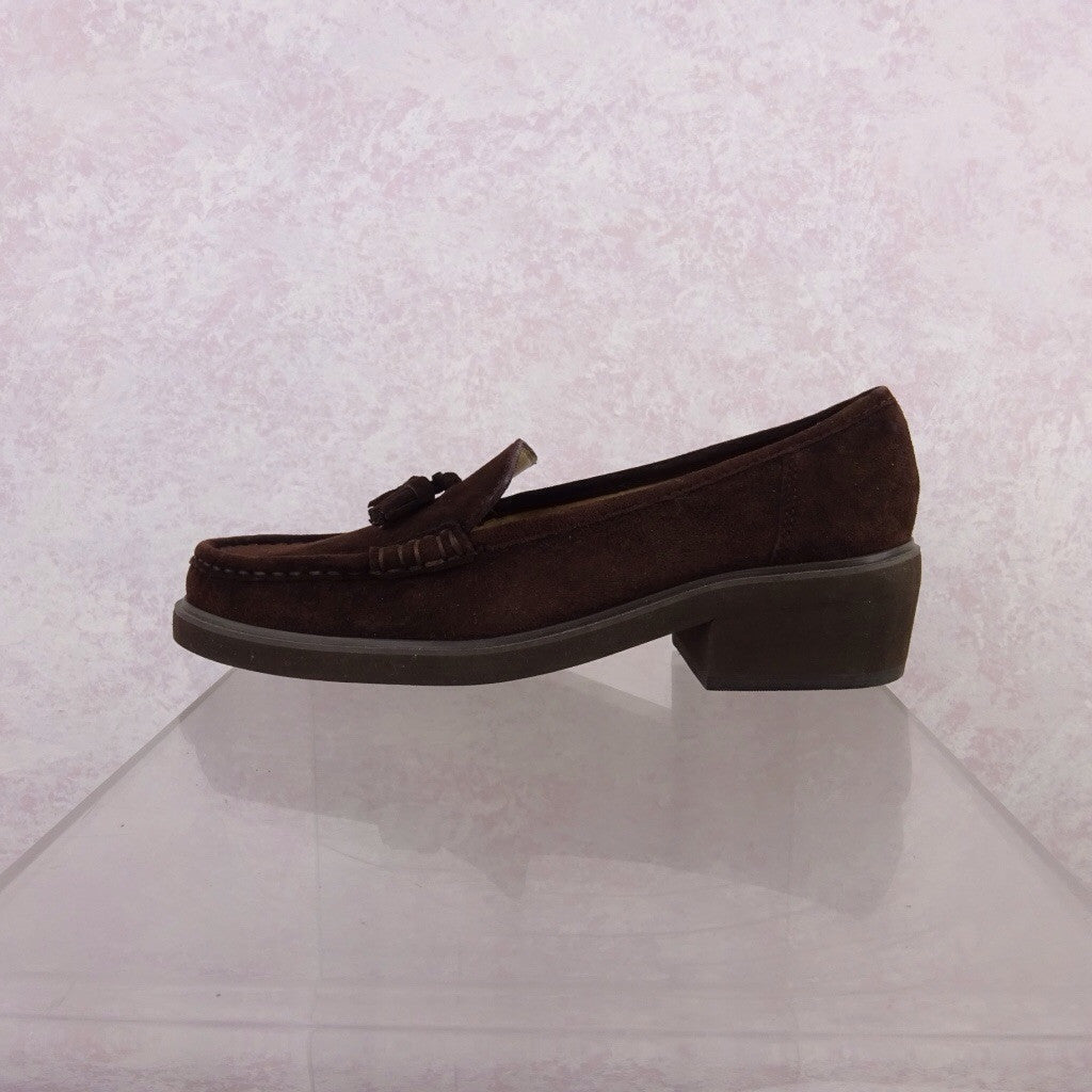 2000s Brown Suede Classic Loafers g