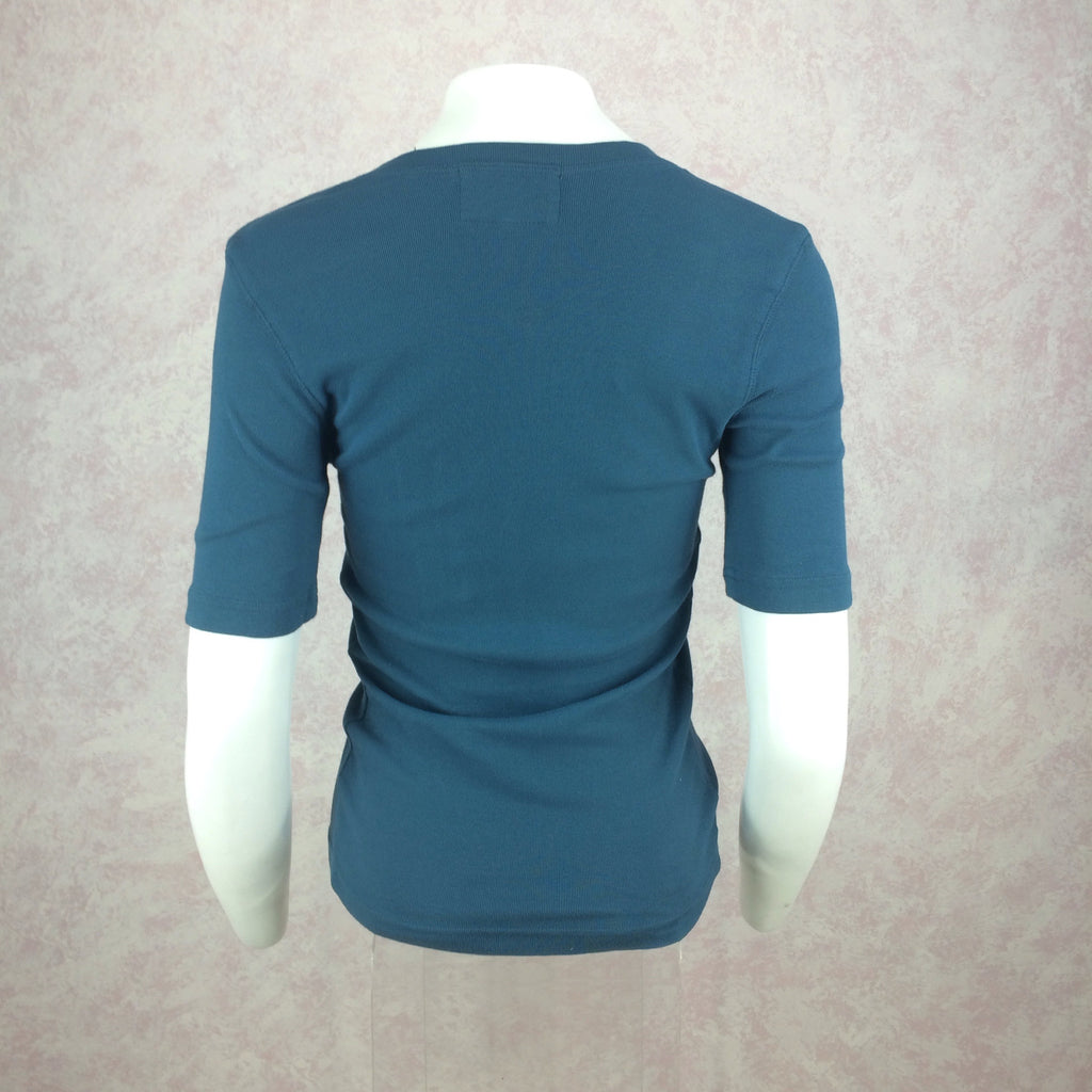 2000s BLUE SYSTEM Cotton Knit V-Neck T-Shirt, Back