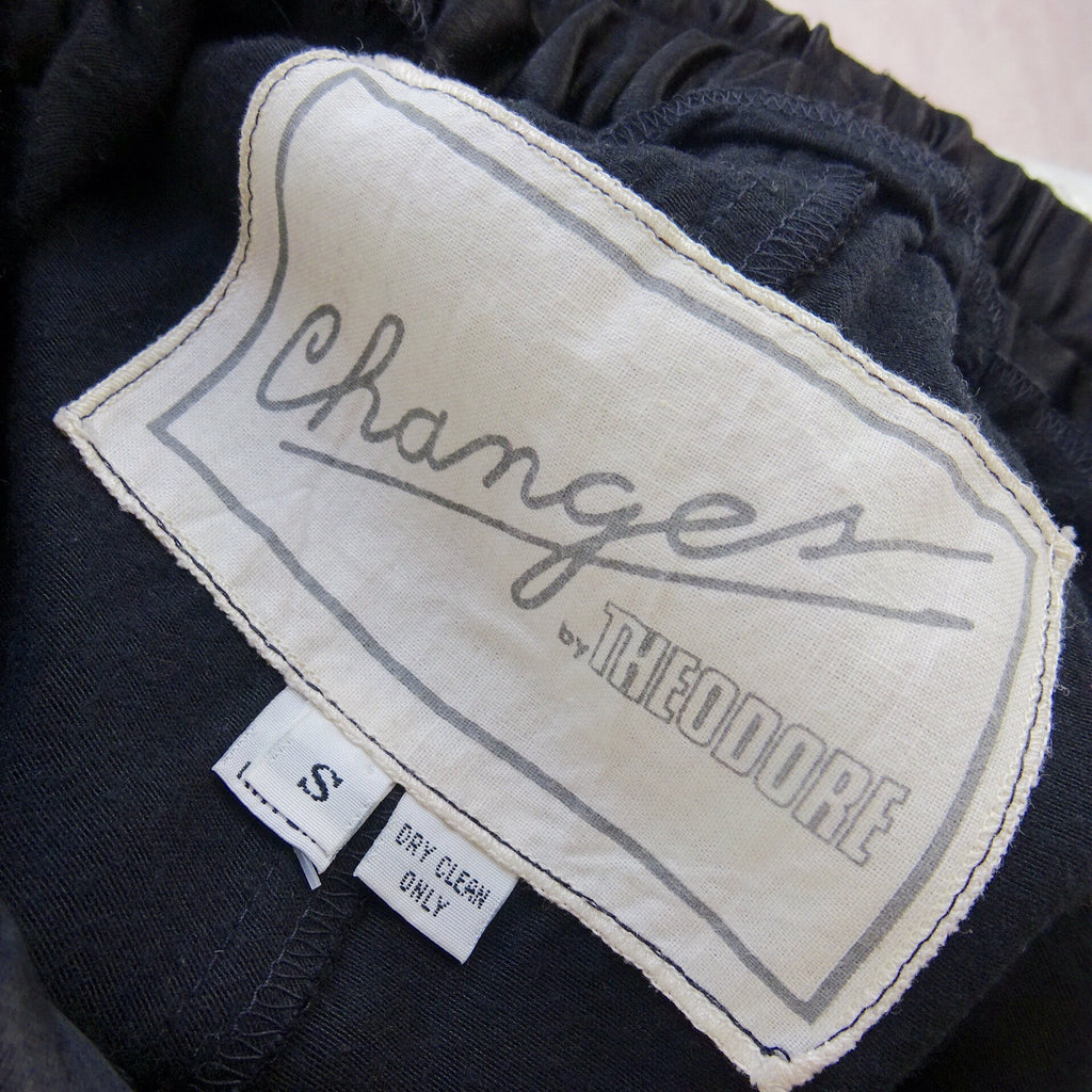 2000s CHANGES High- Waisted Black Satin Pants, NOS t