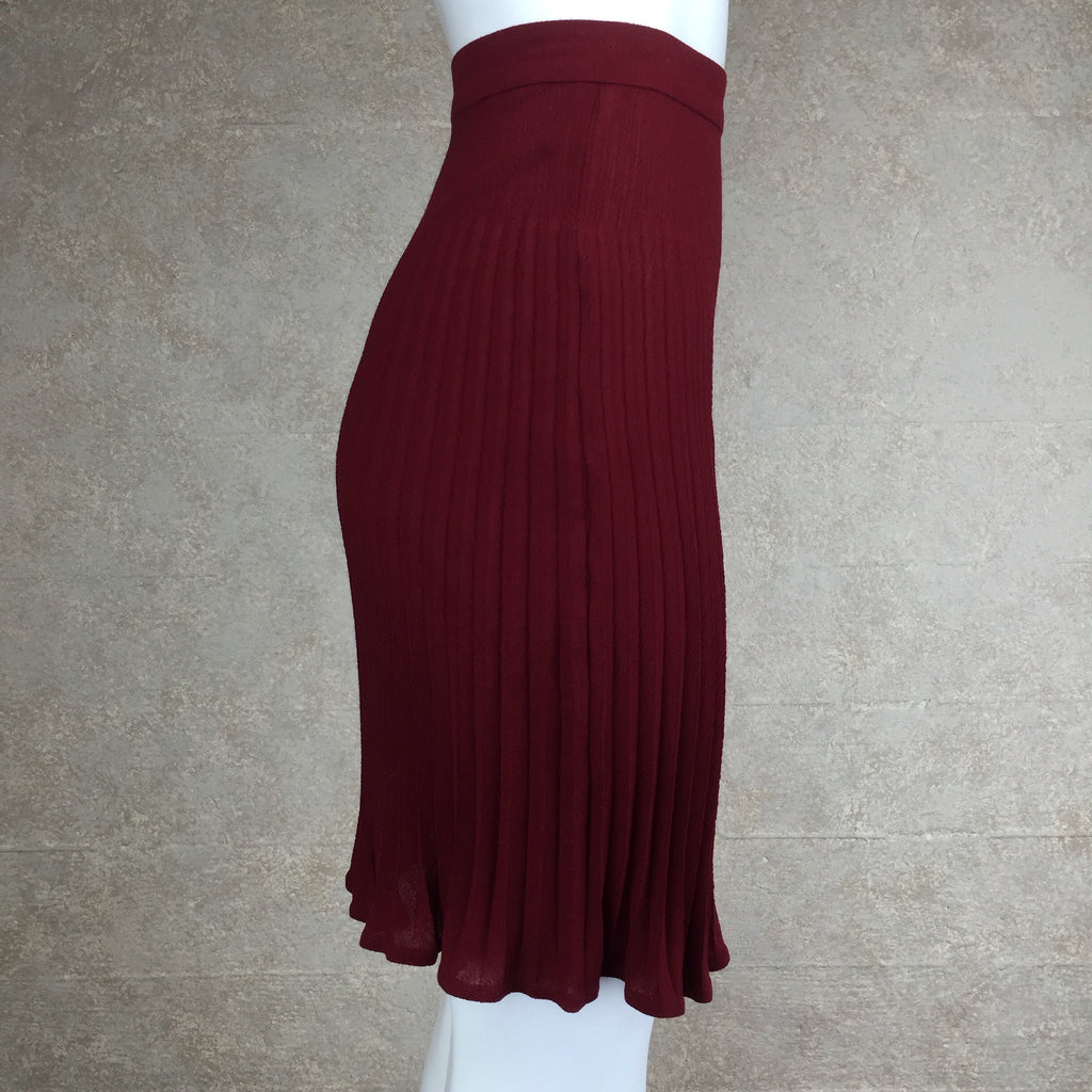 Vintage 80s UNGARO Wool Pleated Skirt, side 2