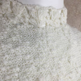 Vintage 60s Knit Bouclé Mini Dress, close up