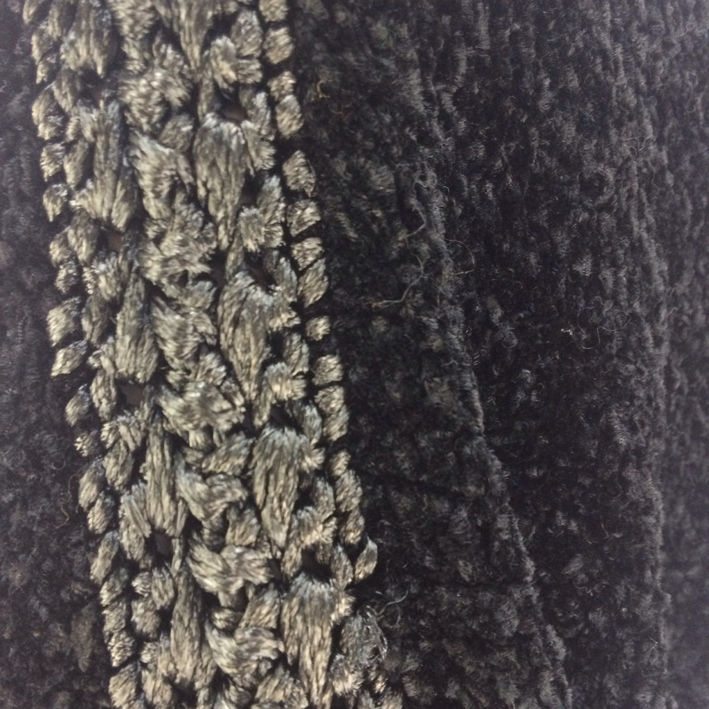 Vintage 80s GUY LAROCHE Chenille Knit Top, Detail