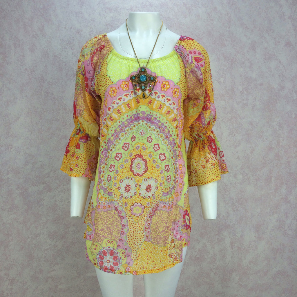 2000s La Perla Printed Cotton Tunic, Front