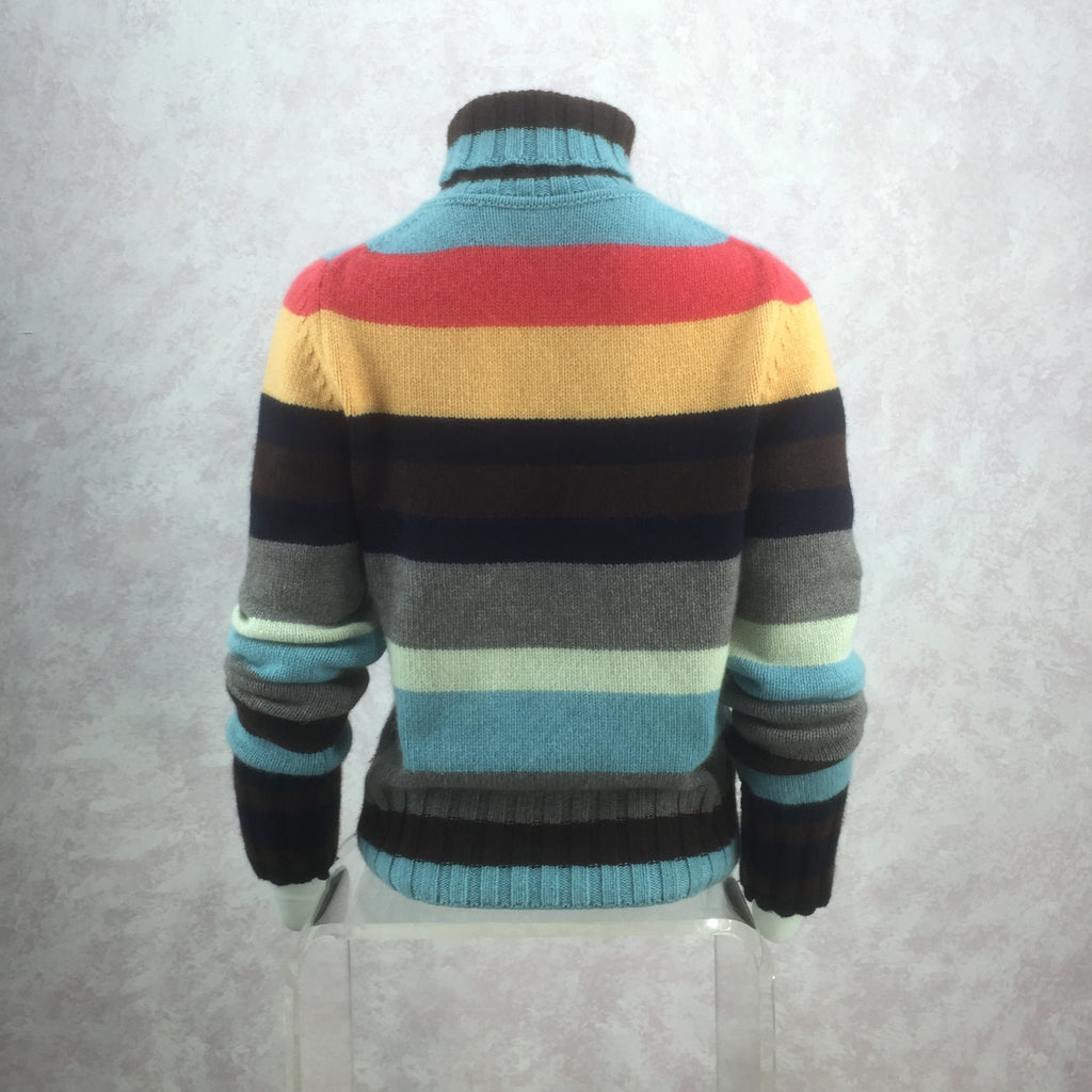 2000s Cashmere Color Blocked Sweater back