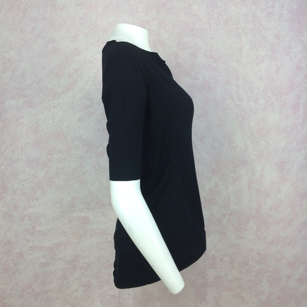 2000s GARY GRAHAM Black 3/4 Sleeve Top, NOS s