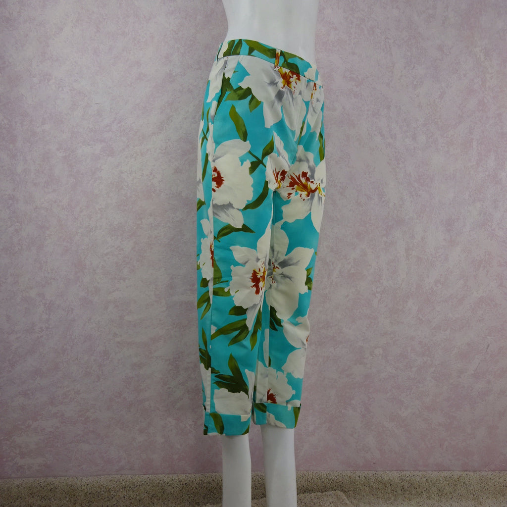 2000s CACHAREL Floral Cropped Pants NWT side