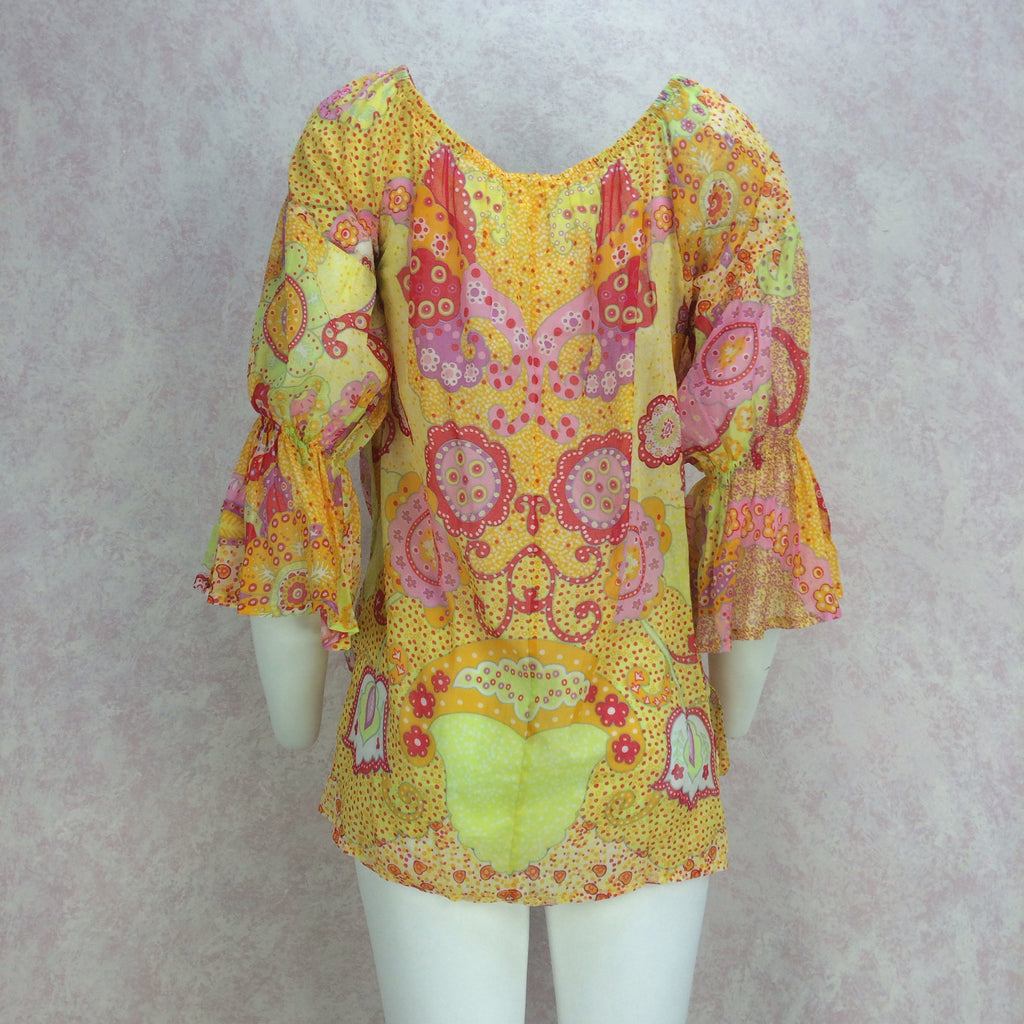 2000s La Perla Printed Cotton Tunic, Back