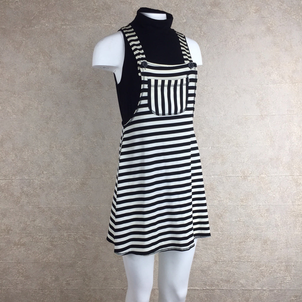 2000s Striped Cotton Knit Overall Dress, Side