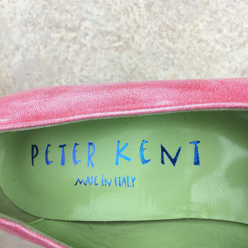 2000s PETER KENT Leather Sneaker-Inspired Shoes, Label