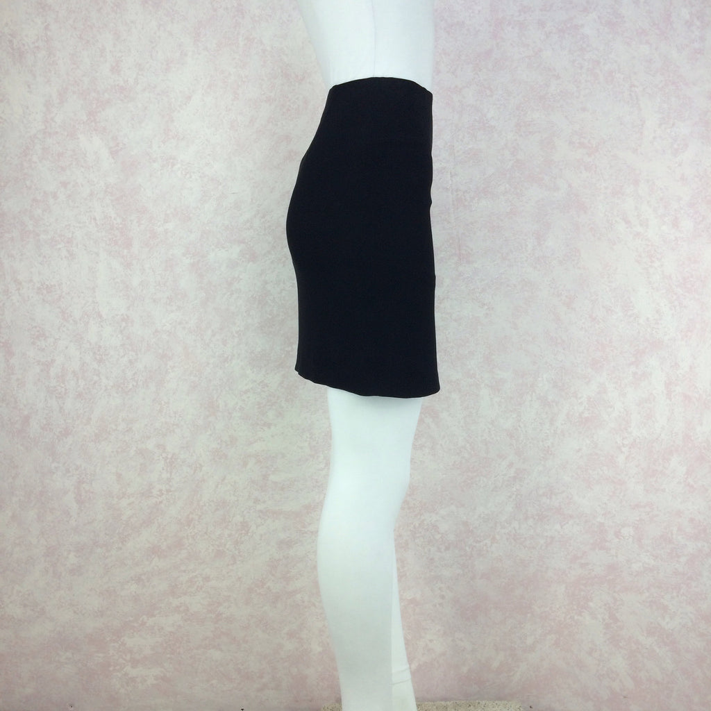 Vintage 90s MOSCHINO COUTURE Short Crepe Skirt, Side 2