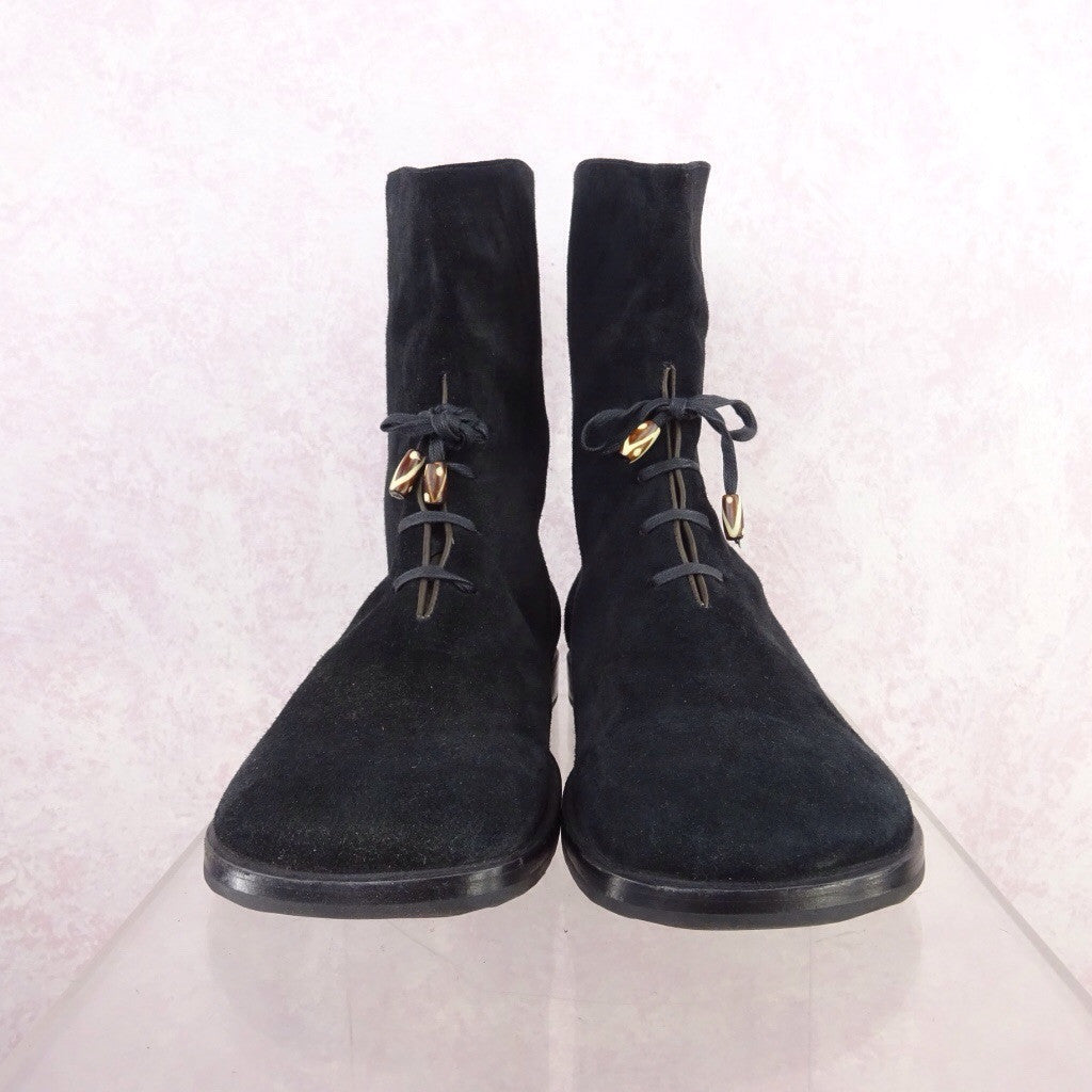 2000s Short Suede Boots w/Lace-Up fd