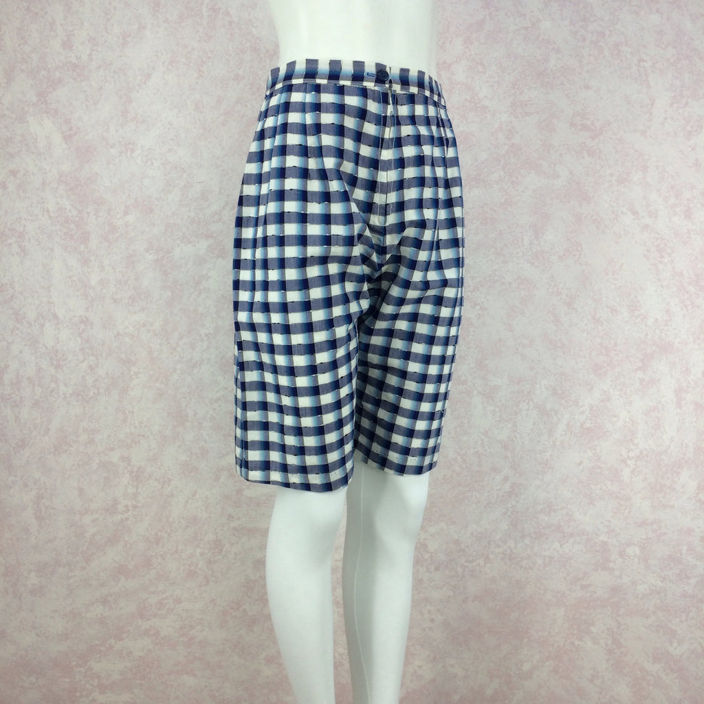 Vintage 50s Plaid Shorts, NOS. side 2