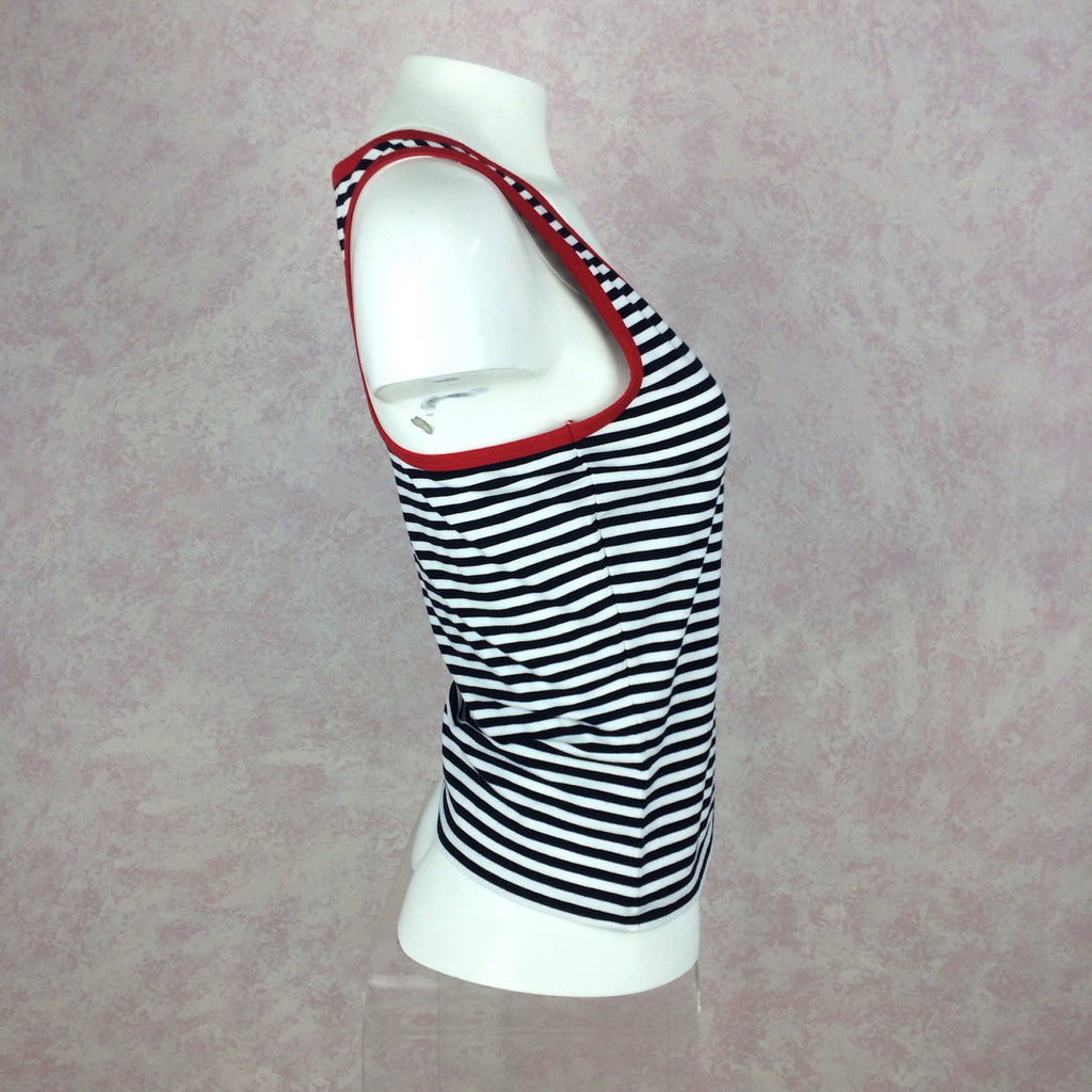 2000s DKNY Striped Tank Top w/Racer Back, Side 2