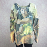 2000s Cotton Tunic w/Masterpiece Print, Front