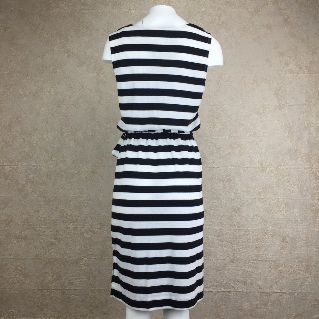 2000s Cotton Striped Dress, Back