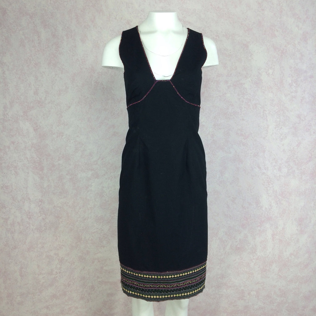 2000s BCBG Max Azria Dress w/Open Back, Front