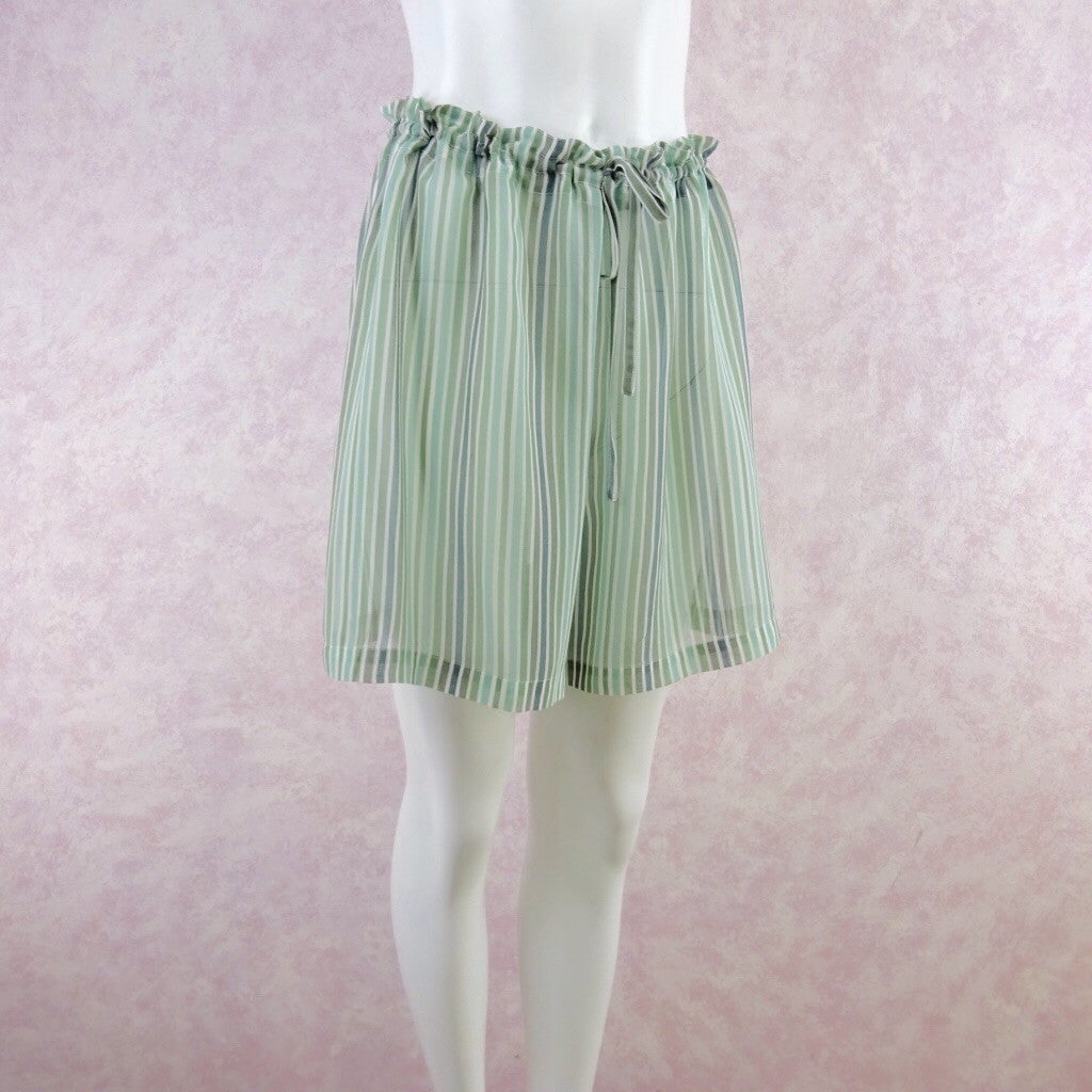 Vintage 90s GO SILK Silk Stripes Shorts, NOS f
