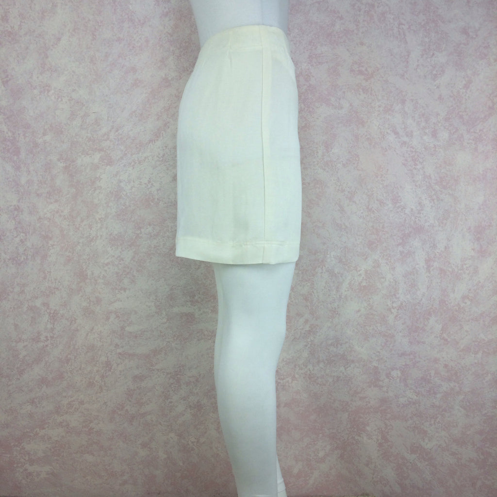 Vintage 90s DONNA KARAN Linen Wrap Skirt, Side 2