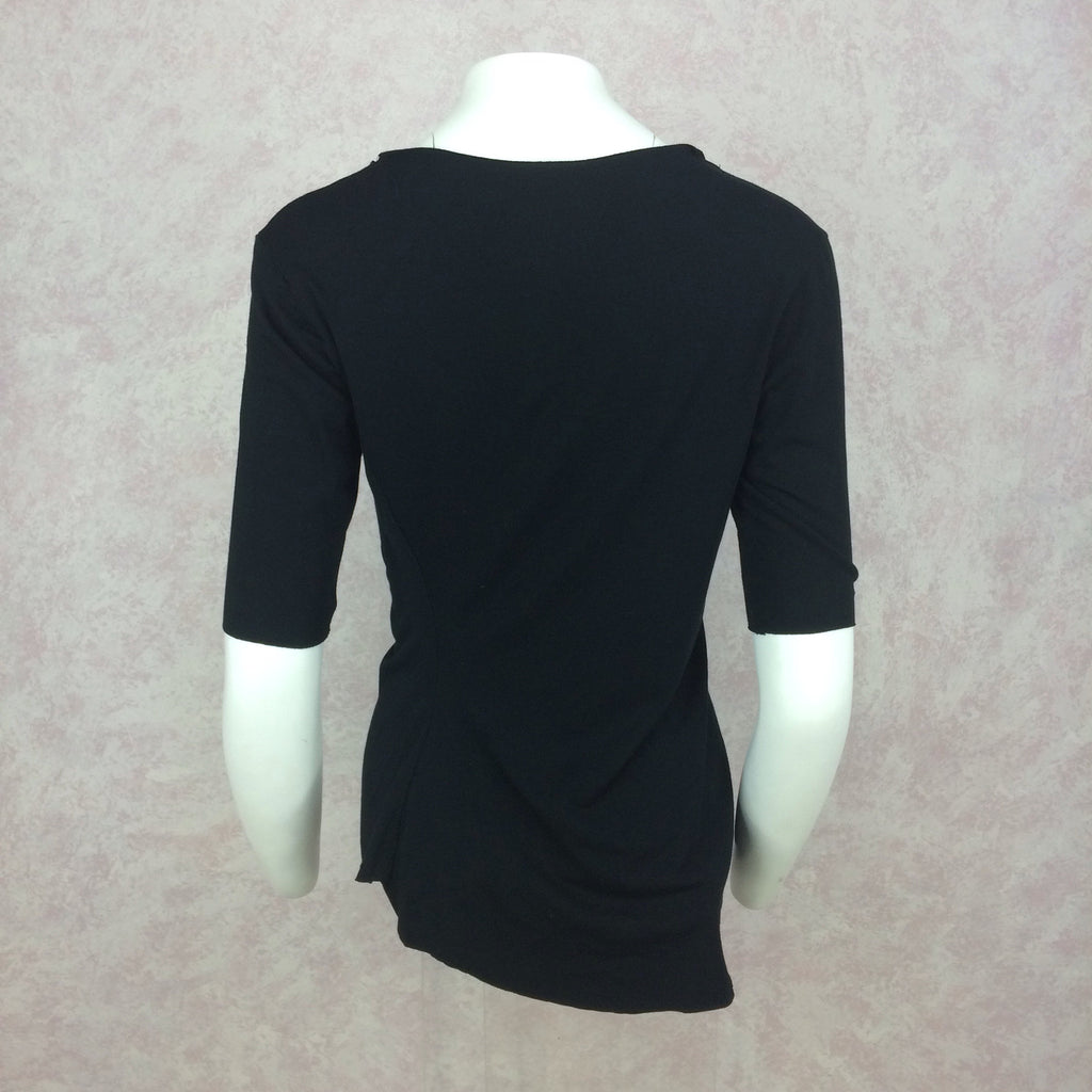 2000s GARY GRAHAM Black 3/4 Sleeve Top, NOS b