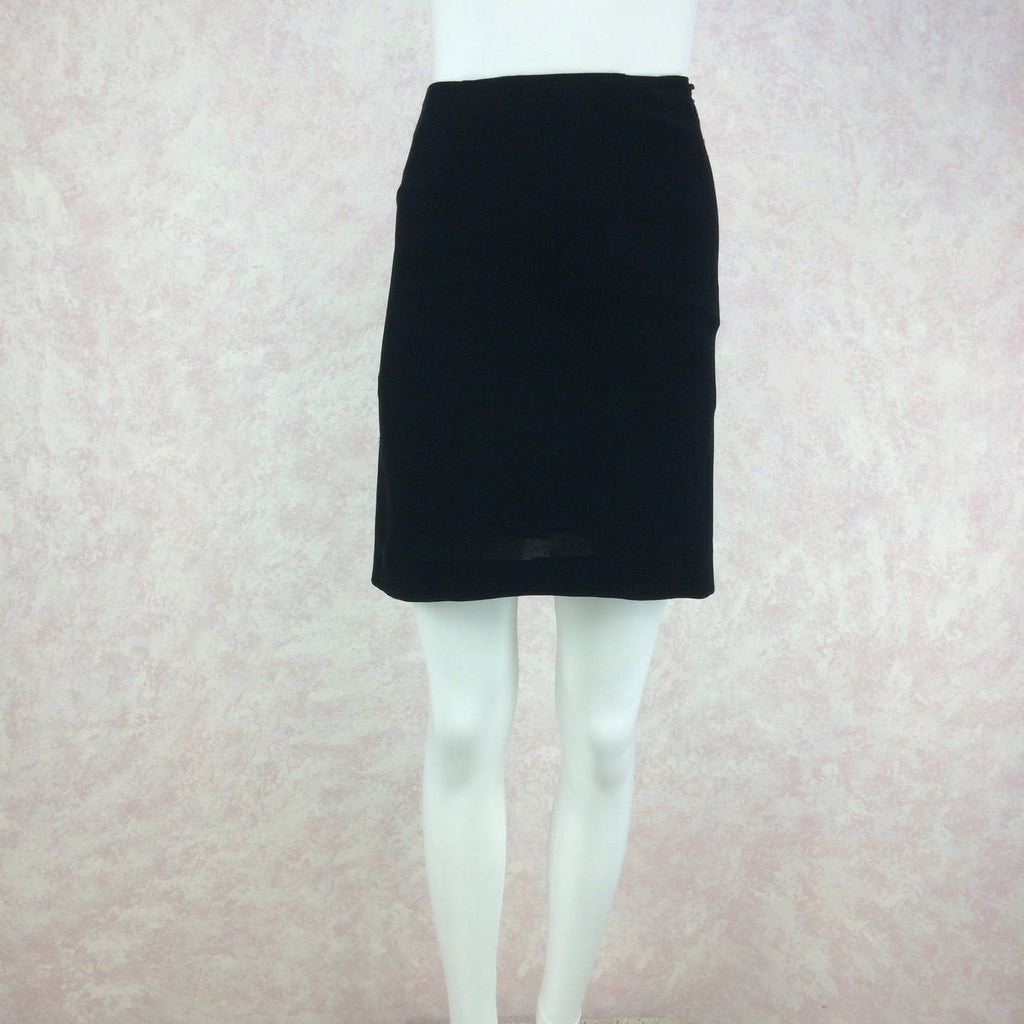 Vintage 90s MOSCHINO COUTURE Short Crepe Skirt, Front