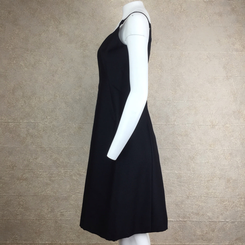Vintage 60s TRIGERE Classic Black Dress, Side 2