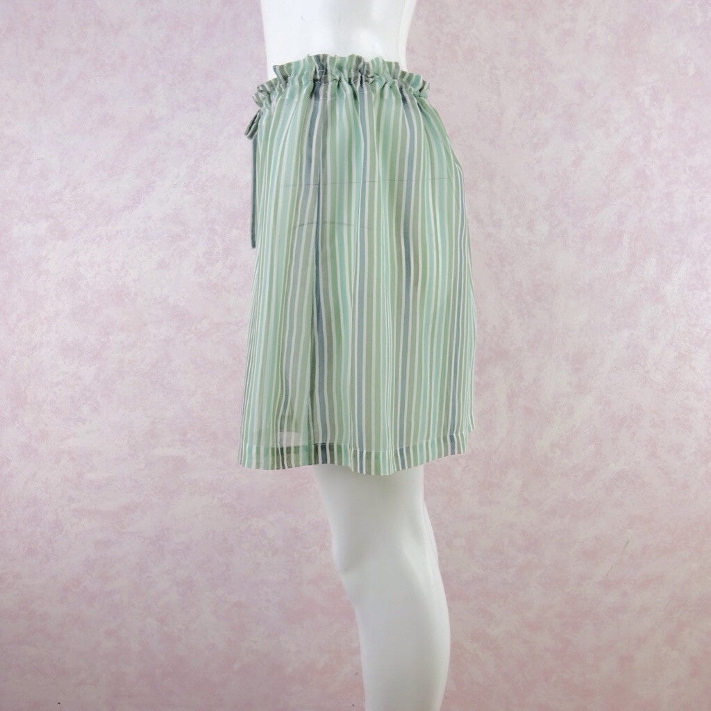 Vintage 90s GO SILK Silk Stripes Shorts, NOS vfd