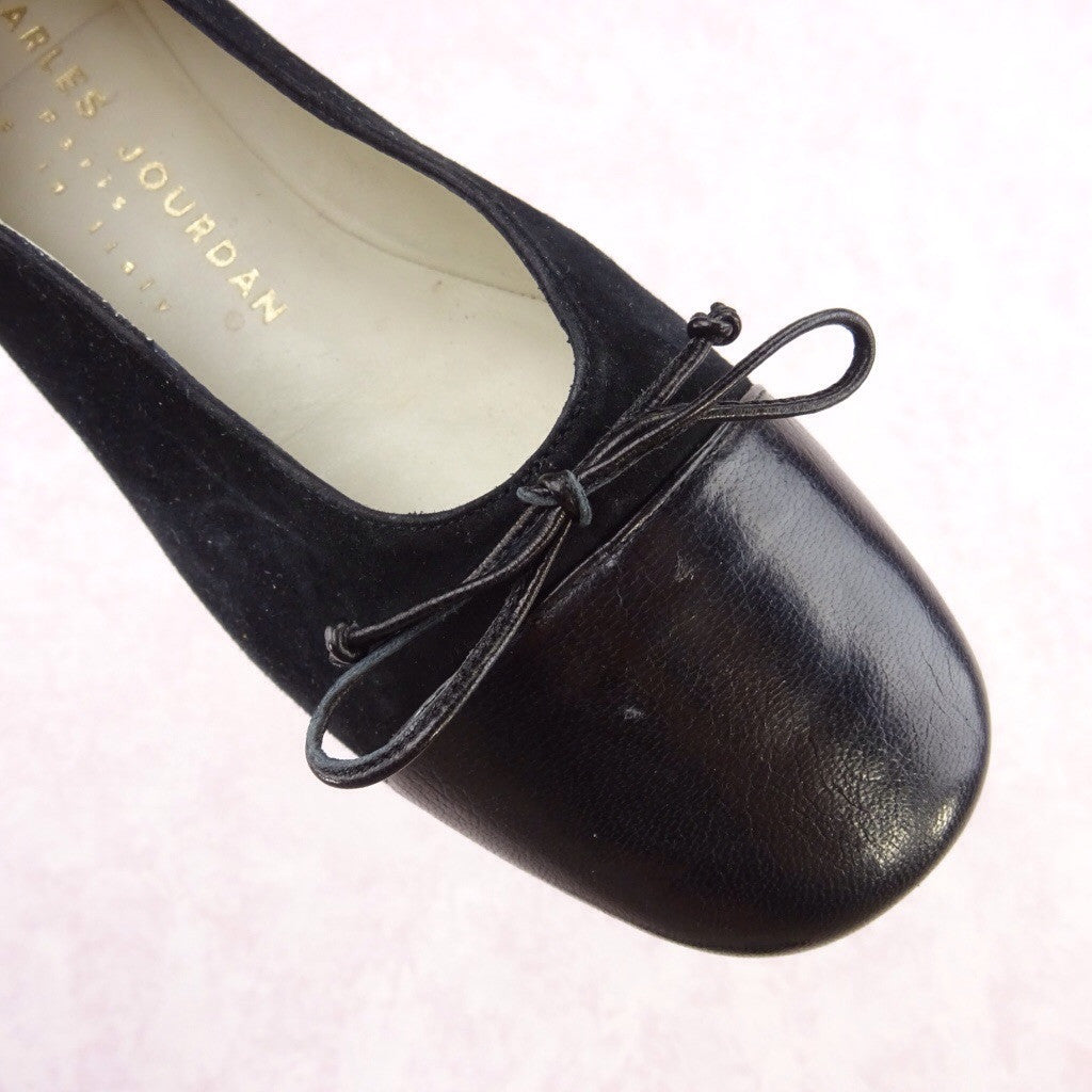 Vintage 70s JOURDAN Suede & Leather Flats ty