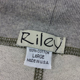 2000s RILEY Sweatshirt Shorts w/Hip Patch Pocket, NOS t