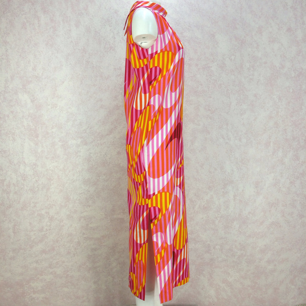 Vintage 70s Bold Op-Art Hawaiian Maxi, Side 2
