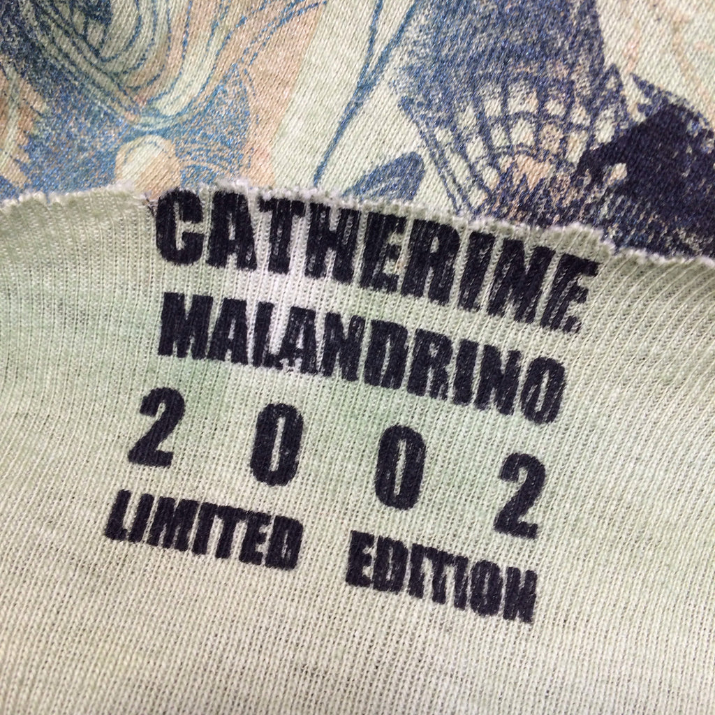 "2000s MALANDRINO Printed ""WANTED"" Top, Label"