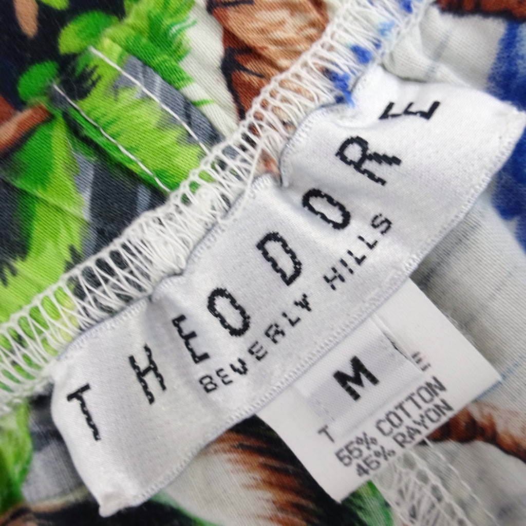 Vintage 90s THEODORE Tropical Print Shorts, NOS tr