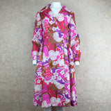 Vintage 70s Psychedelic Wrap Dress, front