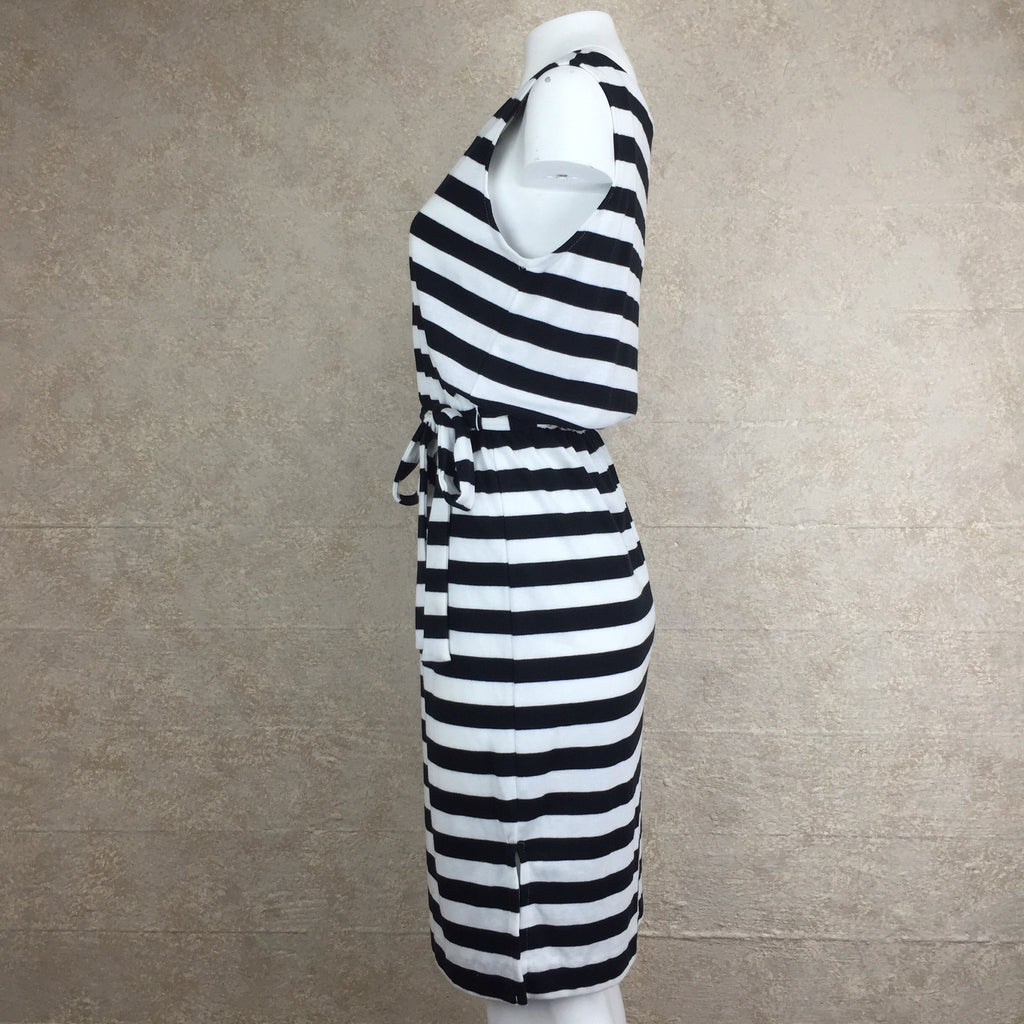 2000s Cotton Striped Dress, Side 2