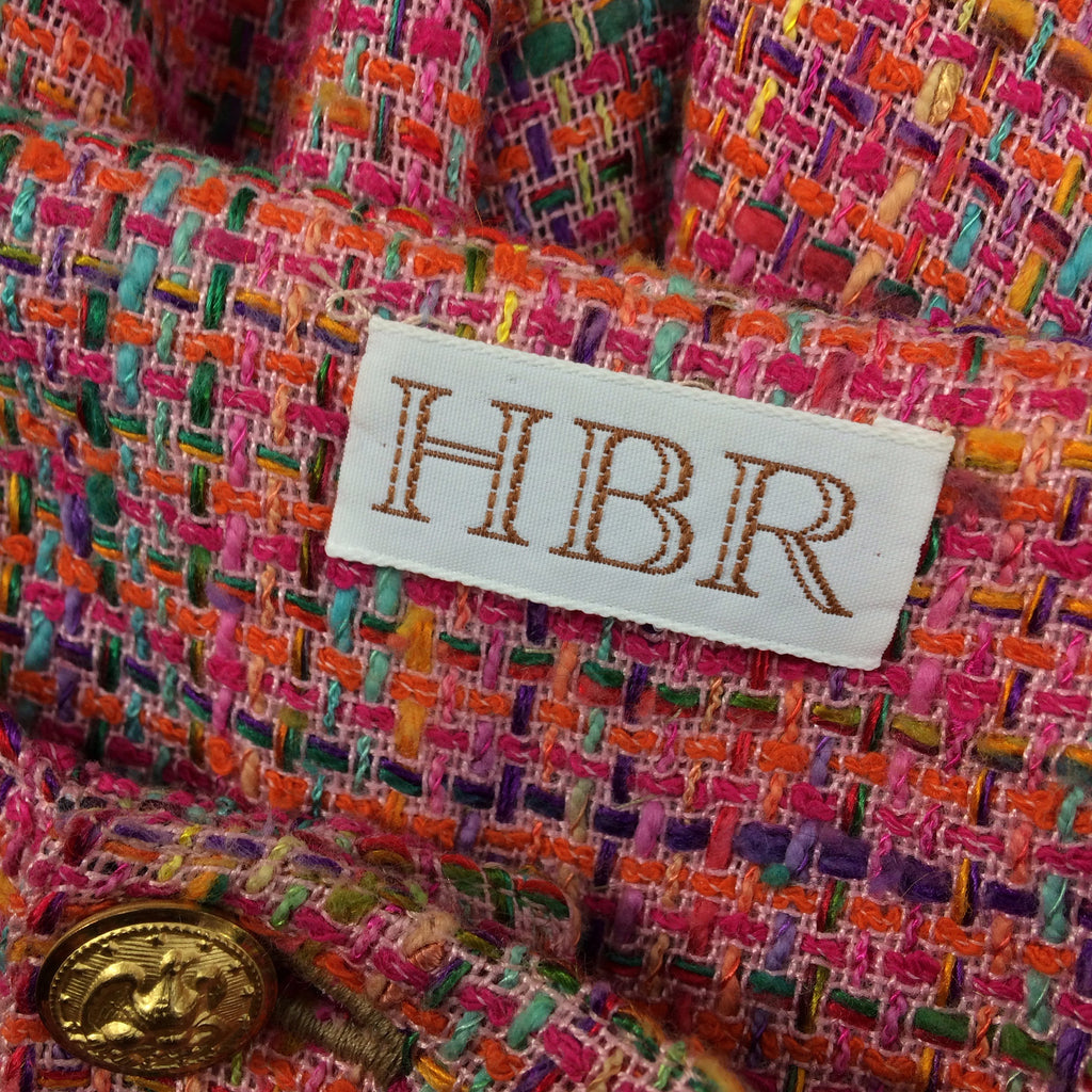 ***** 2000s HBR Multi-Color Tweed Shorts label
