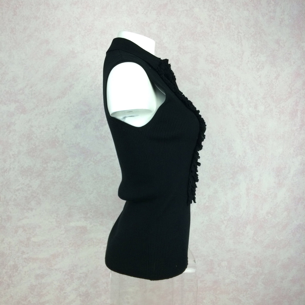 2000s THE WRIGHTS Ribbed Shell w/Ruffle Tux Front side 2