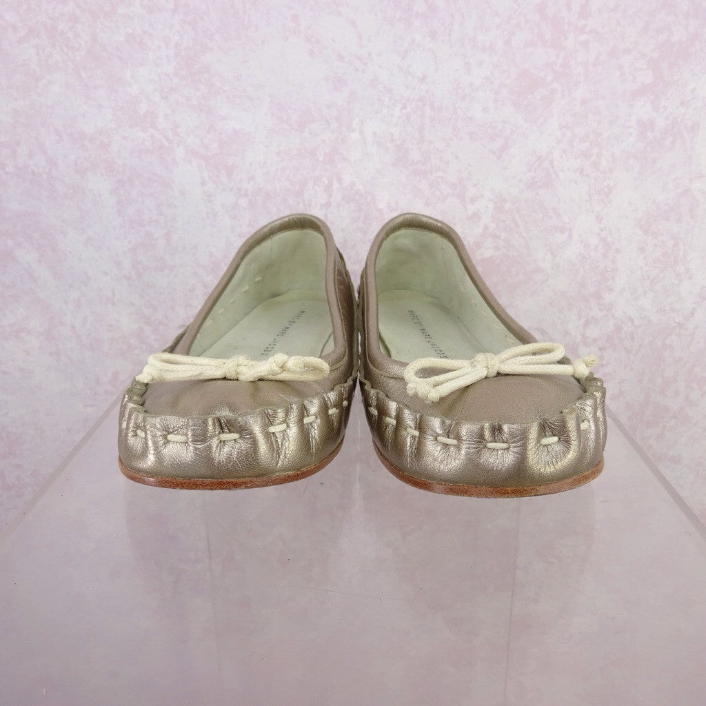 2000s MARC JACOBS Gold Leather Ballerina Flats f