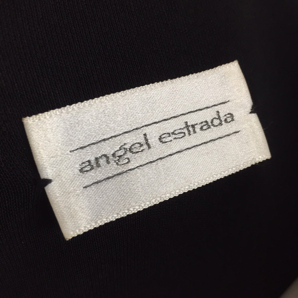 2000s ANGEL ESTRADA Peek-A-Boo Chiffon Top, Label