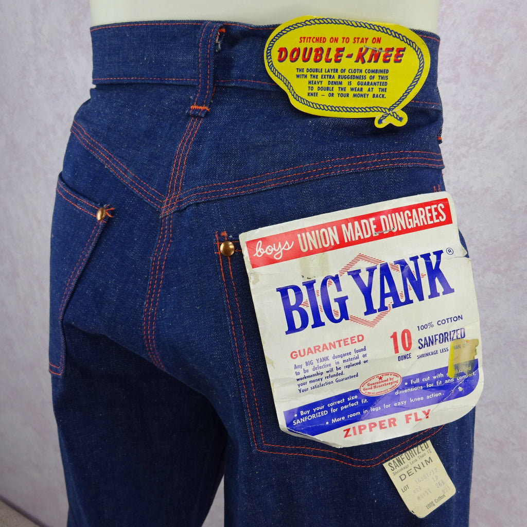 Vintage 50s BIG YANK Denim Pants/ Dungarees, Back Detail