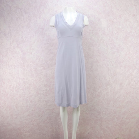 Vintage 80s Linen Open Back Button Front Dress, New With Tag