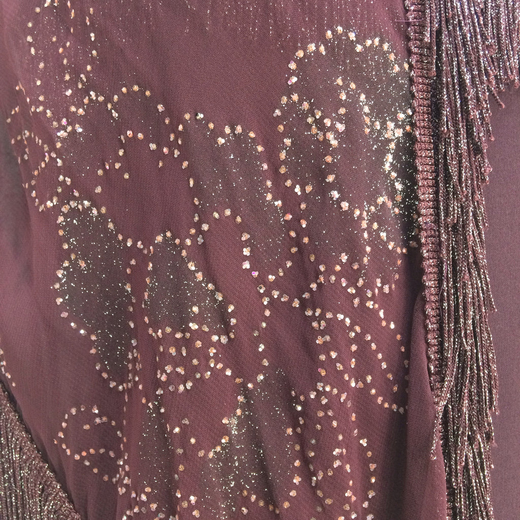 Vintage 70s BACK STREET Maxi Dress + Shawl, Detail