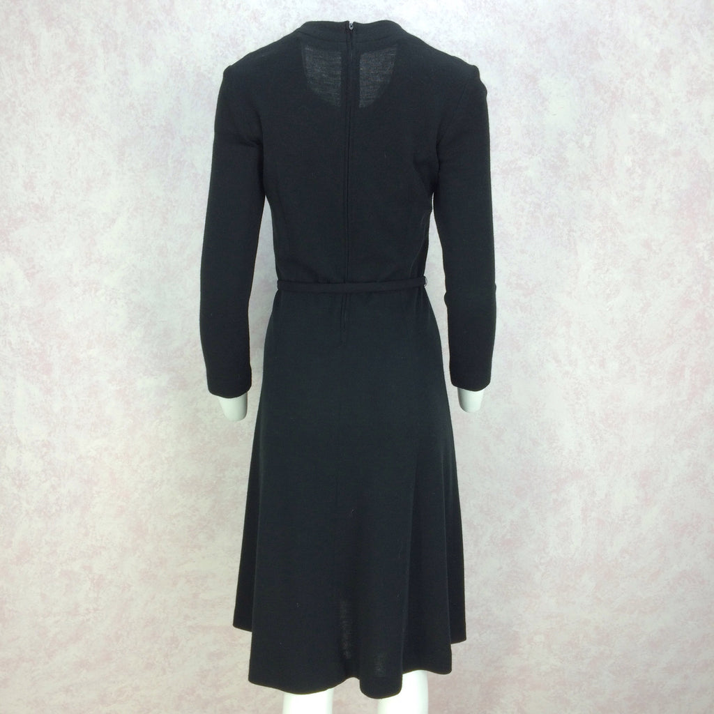 Vintage 70s Wool Jersey Belted Fit & Flair Dressjk
