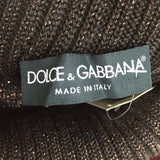 2000s DOLCE & GABANNA Metallic Knit Tunic Dress, Label