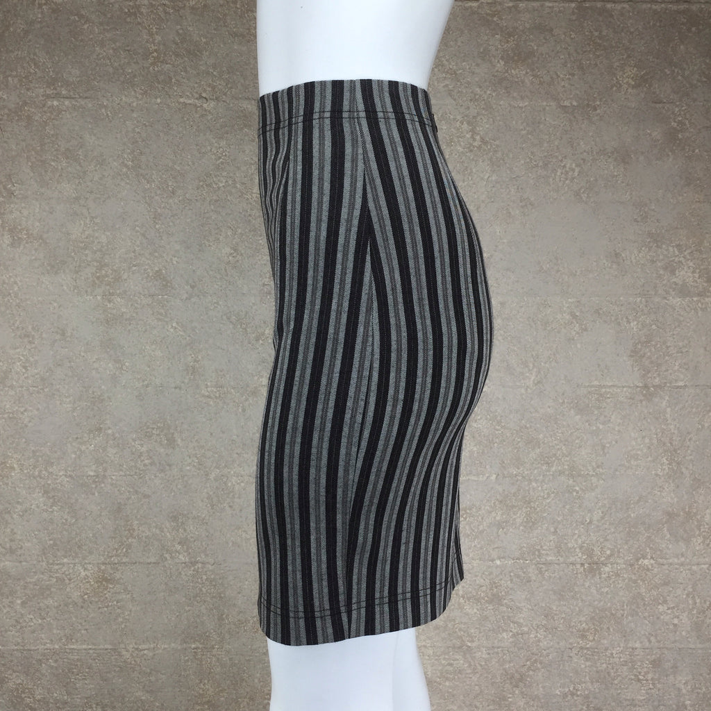 Vintage 90s COMPLICE Striped Body Con Skirt, Side 2