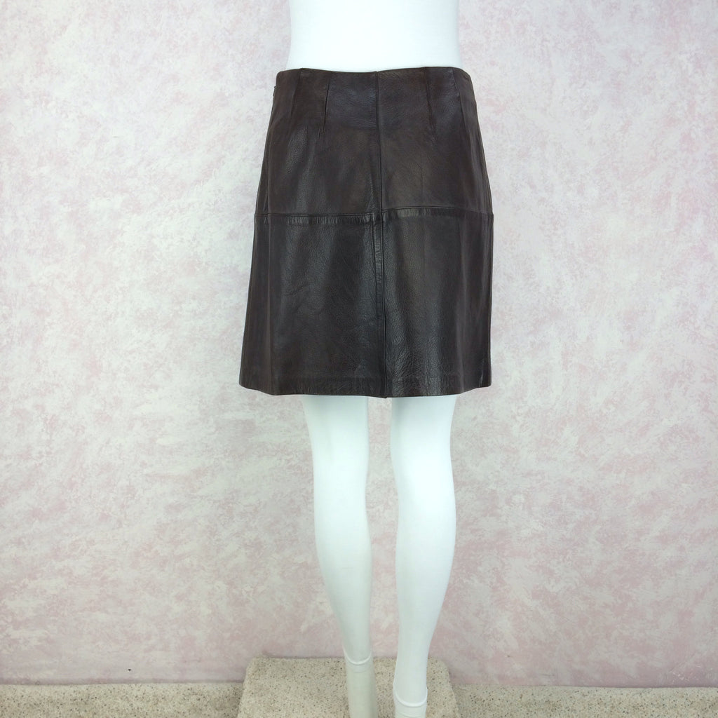 Vintage 90s VITTADINI Leather Skirt, Back