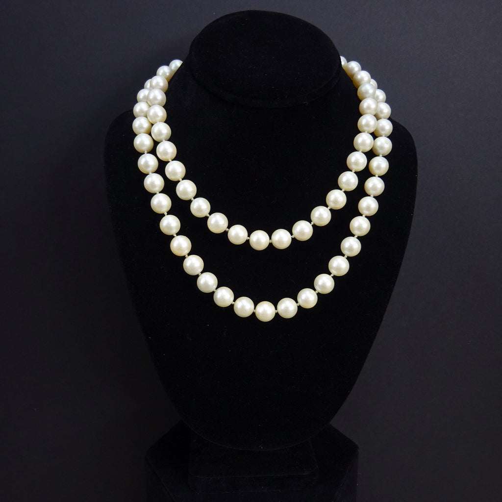 faux or v estate row five pearl shaped freshwater jewelry necklace bridal silver bling