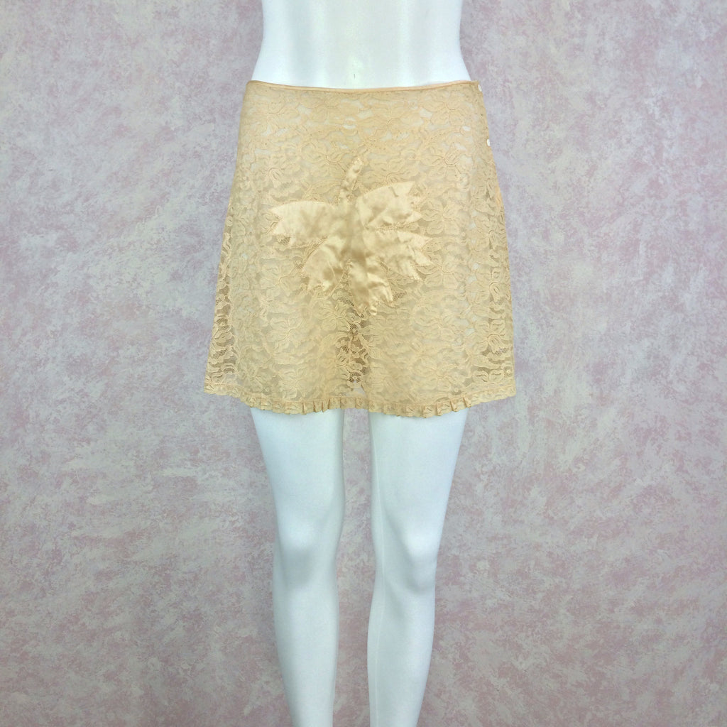 Vintage 40s Lace Tap Pants w/Fig Leaf, Front
