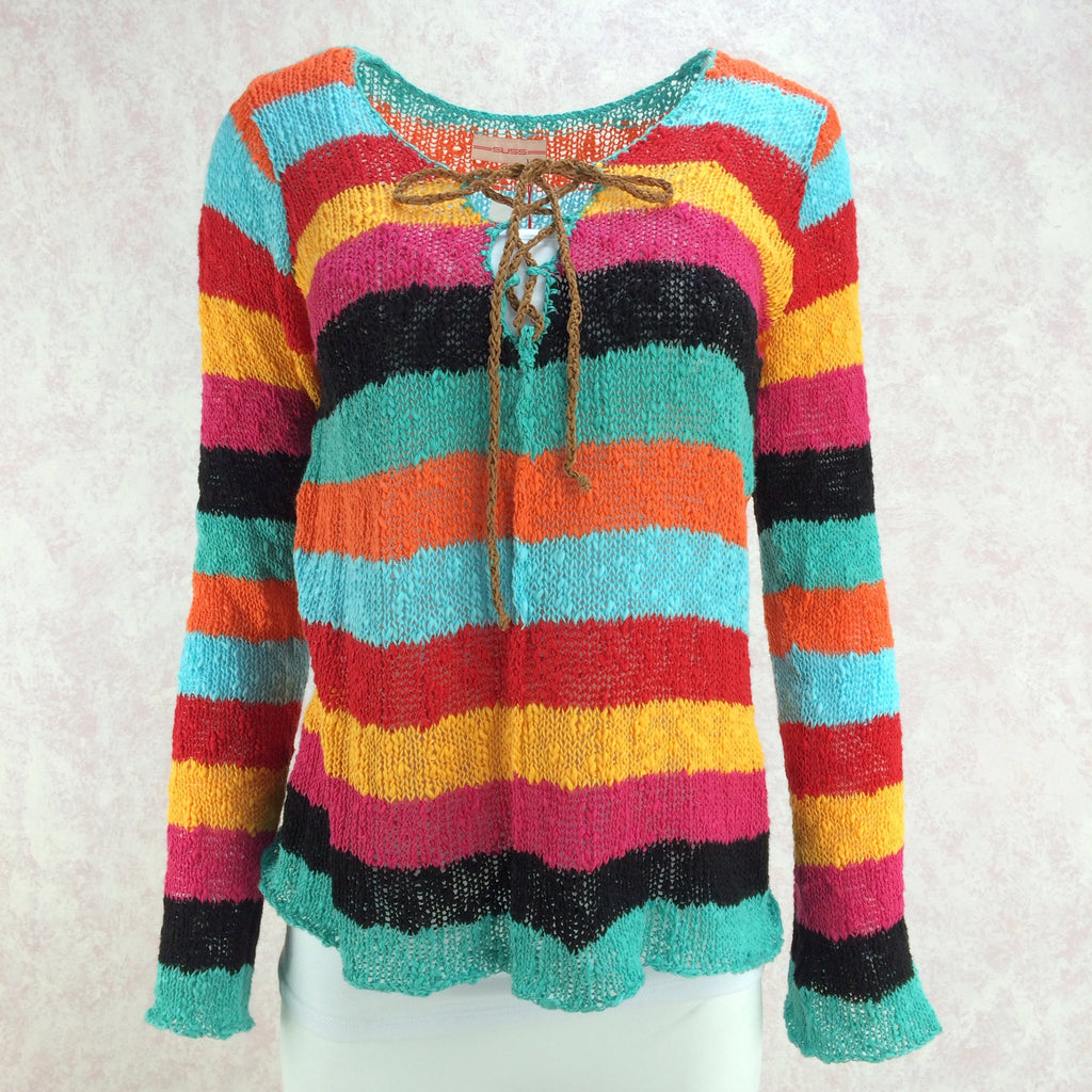 2000s SUSS Multi-Color Knit Top, Front