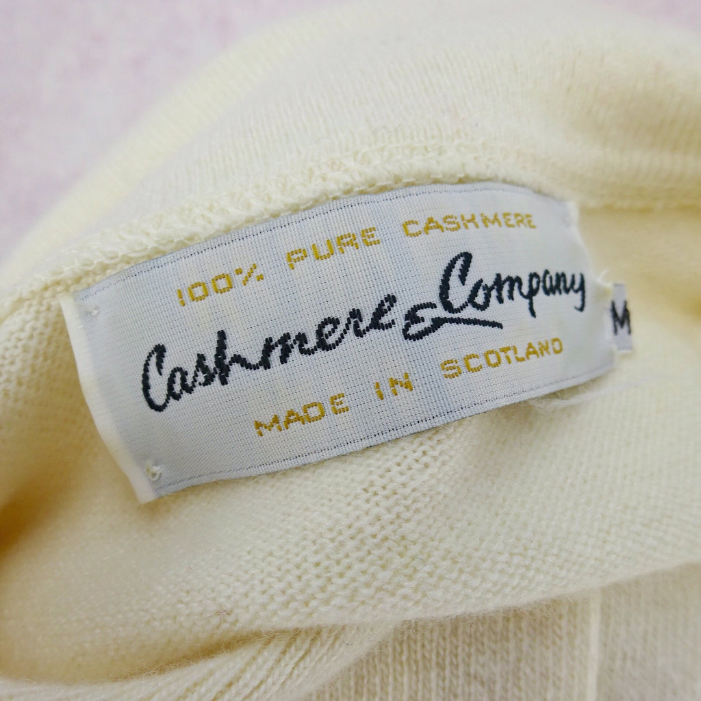 2000s CASHMERE & CO Cardigan w/3/4 Sleeve, NOS label
